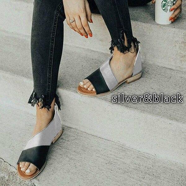 Oeak femmes plat d'été sandales dames gladiateur Peep Toe 2019 nouvelle mode plate-forme chaussures grande taille décontracté chaussures 35-43 12