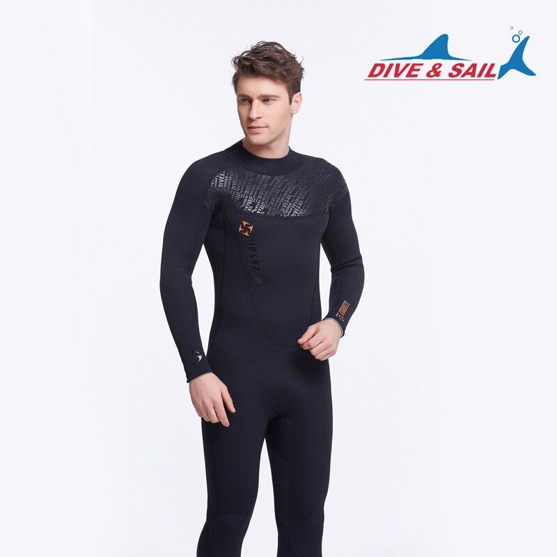 Погружение и парус 3 мм Мерсеризованный цельный Профессиональный погружной тепловой одежды для мужчин или женщин Черная ткань - Цвет: Men