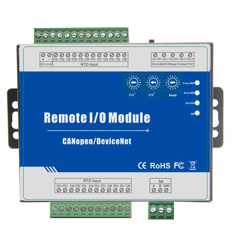 CANopen RTD Remote IO Module Measure Range -120 ~420 Celsius Degree Support Predefined Master/Slave 4 RTD M240C