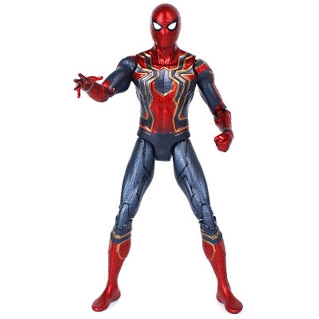 NOVA 17 cm Marvel the Avengers 3 Infinito Guerra Móveis de Ferro Homem Aranha Amazing Spiderman Action Figure brinquedos modelo para presente das crianças