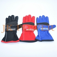 JK SPC New Car Racing Gloves Sports Safety Gloves Leather Nylon 3 Colosr Size L XL