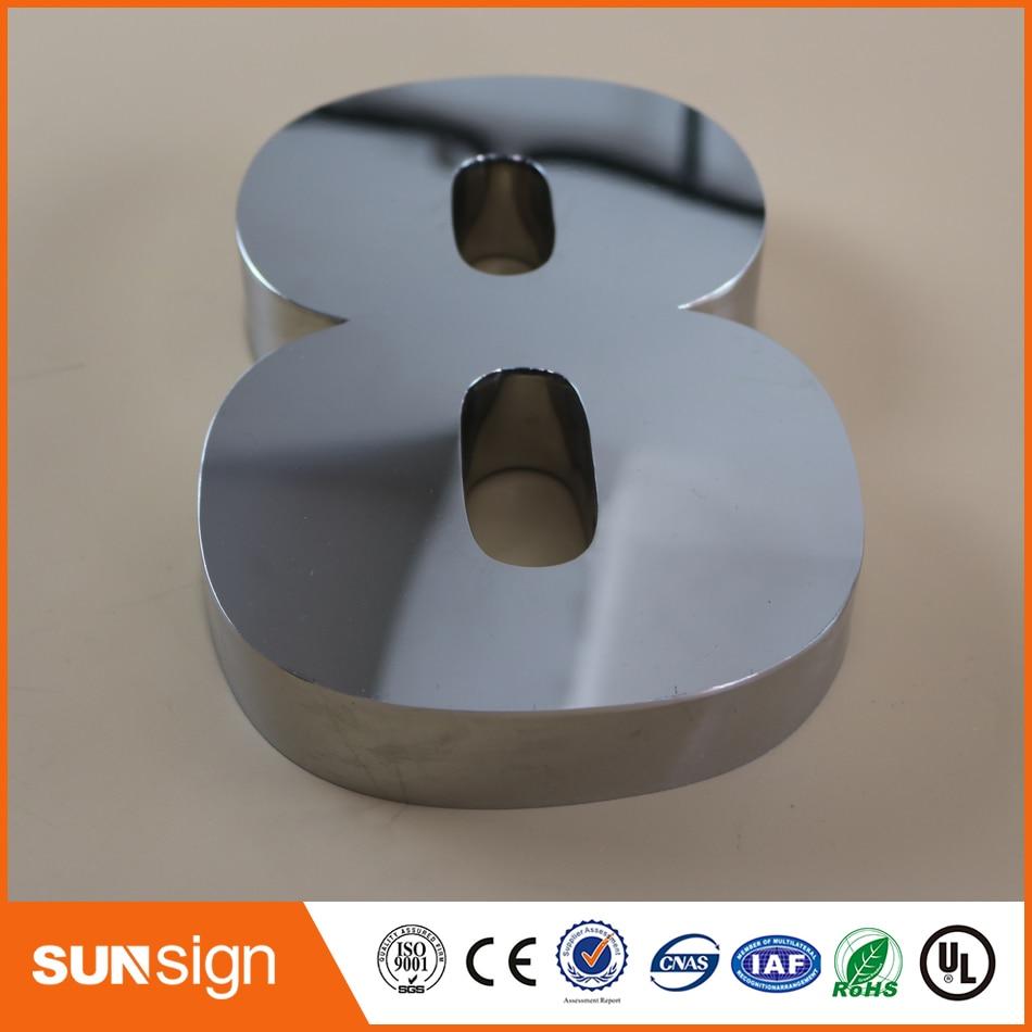 Digital Door House Number 8 Stainless Steel Numbers