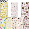 ciciber Flamingo Donut Banana Flower Pattern Print Design soft silicon case cover For iPhone 6 6S 7 8 plus 5S SE X Capa Fundas