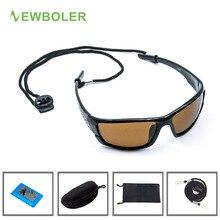 NEWBOLER, поляризованные солнцезащитные очки для рыбалки, коричневые, желтые линзы, ночная версия, мужские очки, для спорта на открытом воздухе, вождения, велоспорта, UV400