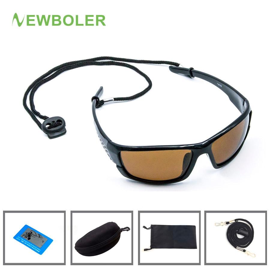 NEWBOLER Polarized Fishing Sunglasses Brown Yellow Lenses Night Version Men Glasses Outdoor Sport Driving Cycling Eyewear UV400