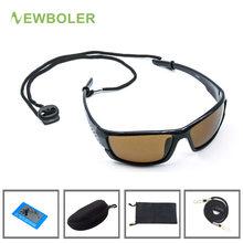 Newboler polarizado óculos de sol de pesca marrom amarelo lentes noite versão masculino esporte ao ar livre condução ciclismo eyewear uv400