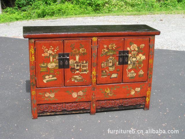 Sólido de madera vieja agraciada simple pintura de estilo Ming ...