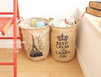 Bán Hot Lưu Trữ Đồ Chơi Basket với Tay Cầm Vải Đay Túi Tạp Trong lưu trữ thùng Đựng Quần Áo Gấp Gi