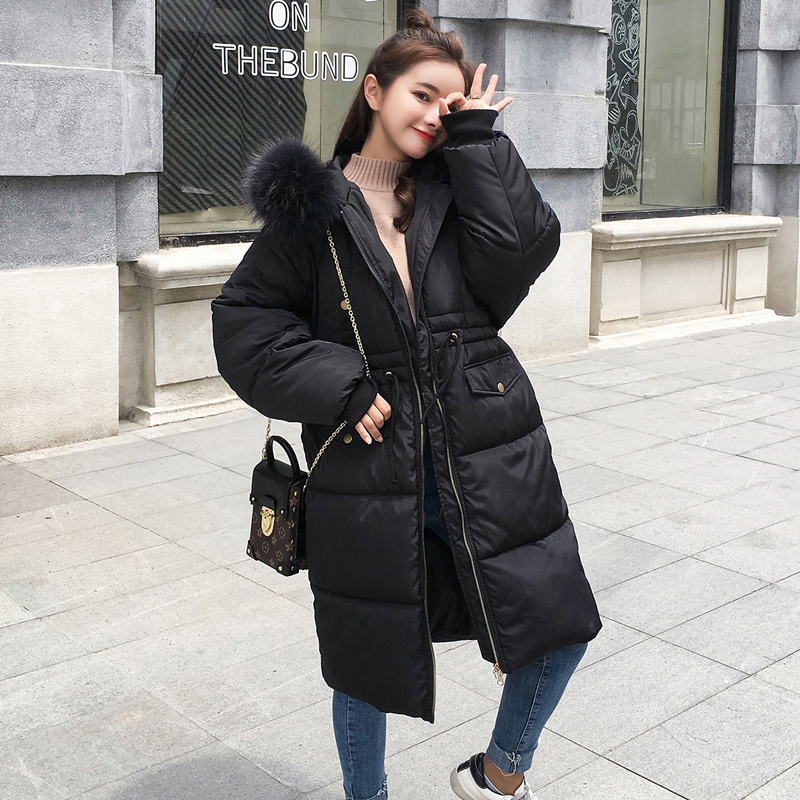 Thickened Women   Down     Coat   Women   Down   Winter   Down   Jacket Long Hooded Warm   Coat   Fur Collar Winter   Coat   Brand Clothing