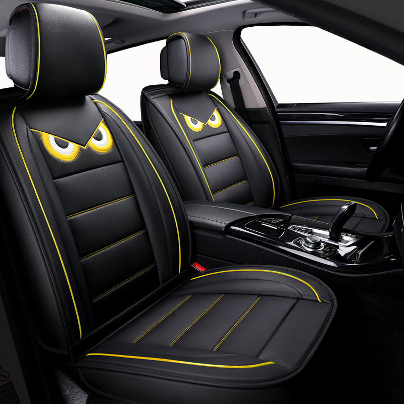 Automobiles Cartoon Leather Car Seat Covers For Chevrolet