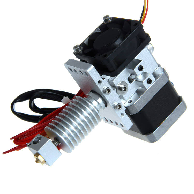 Geeetech GT8 Extruder for Reprap Kossel 3D Printer J-head Hotend Long/Short Distance Nozzle 0.3/0.35/0.4/0.5mm Filament 1.75/3mm xc3dmaker 2016 reprap mk9 e3d 12v 0 4mm single nozzle 1 75mm filament 3d printer head extruder extra 0 3mm nozzle