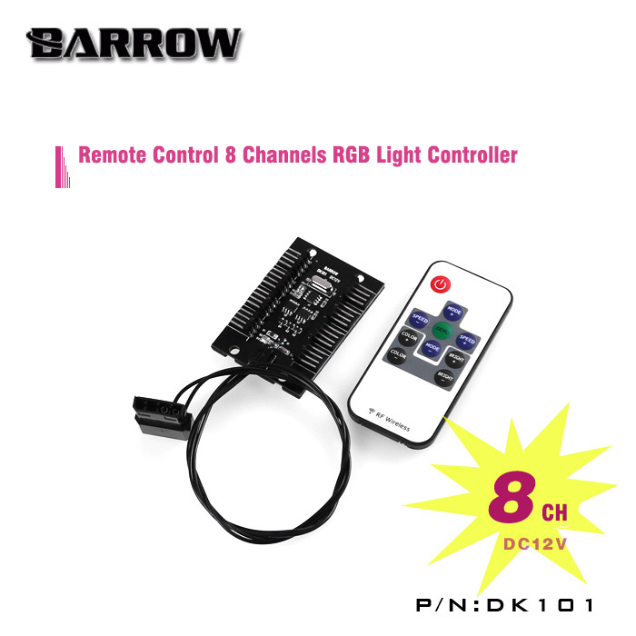 Barrow DK101 8 Channels Remote RGB Light Controller dmx512 digital display 24ch dmx address controller dc5v 24v each ch max 3a 8 groups rgb controller