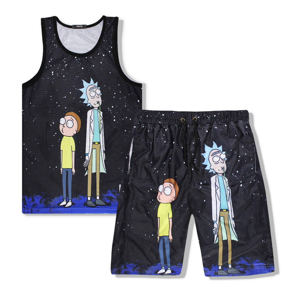 Men Movement Sleeveless Anime Cartoon Couples Men And Women Loose Breathable Jersey Cosplay Mens clothing