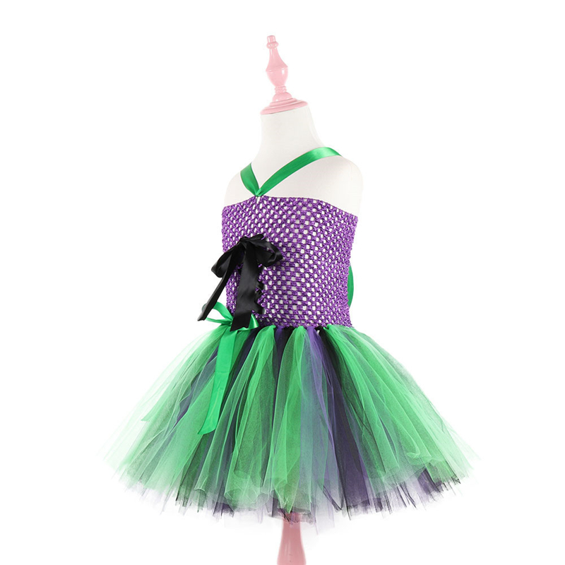 2019 New Halloween Girl Costume Party Dress Sleeveless Halter Child Kids Tulle Dresses Summer Clothes 5 6 7 8 9 10 12 12Years in Dresses from Mother Kids