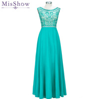 Fast ship! In Stock Green Prom Dresses 2019 Women Elegant Crystal Long Formal Party Gown Sexy Backless Beading Evening Dresses