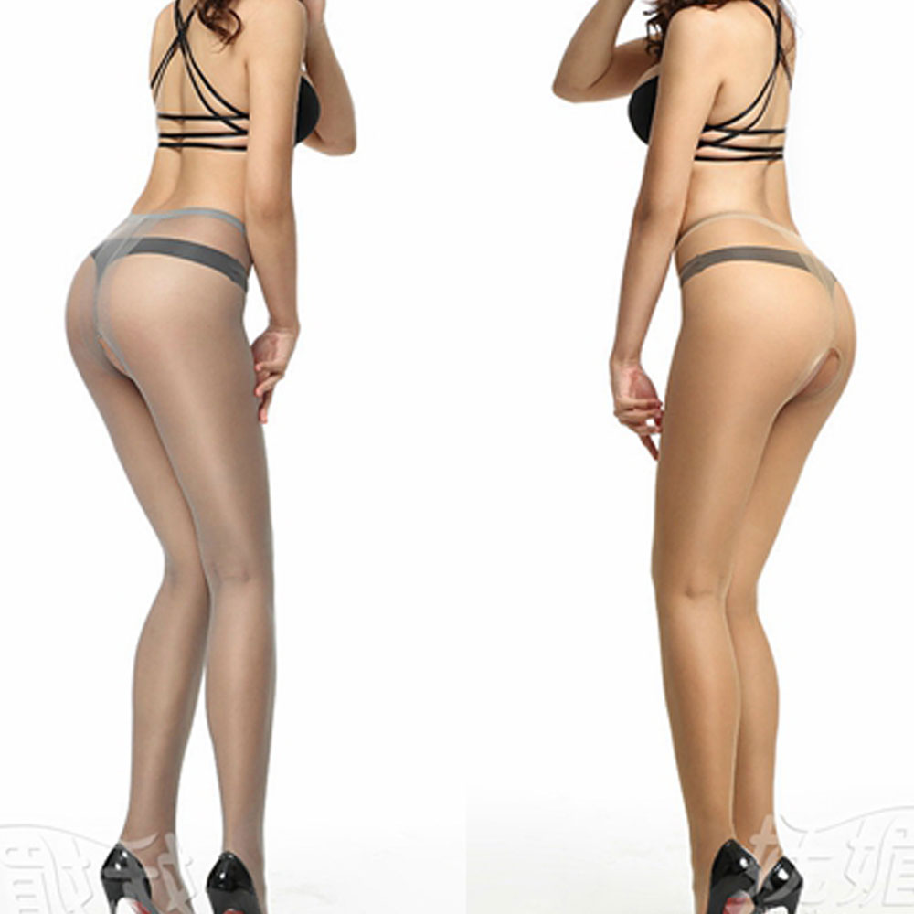 5D Sexy Women Open Crotch Transparent Lingerie Tights See Throgh Sexy Underwear Stealth Pantyhose Silk Stockings women Pantyhose