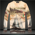 20163D Fashion T-Shirt Clothing Retro / City / flower / car Print 3D T Shirt Men Long sleeve Casual Tshirt Tee Tops