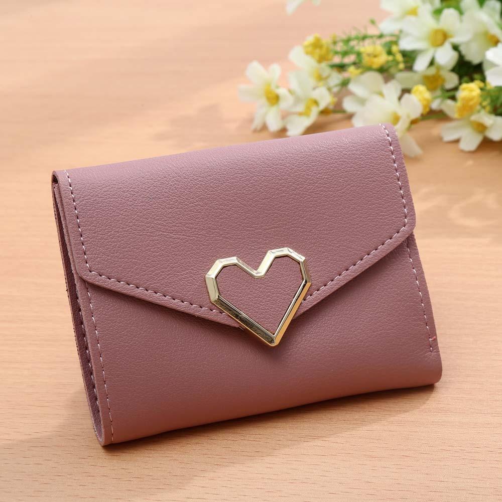 Koreanska stil kvinnor plånböcker rosa kort plånbok för - Plånböcker - Foto 3