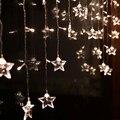 4 м льда из светодиодов строка свет новый год внутреннего освещения гирлянда звезда моделирование из светодиодов luminarias новогоднее украшение 100SMD 18 звезд