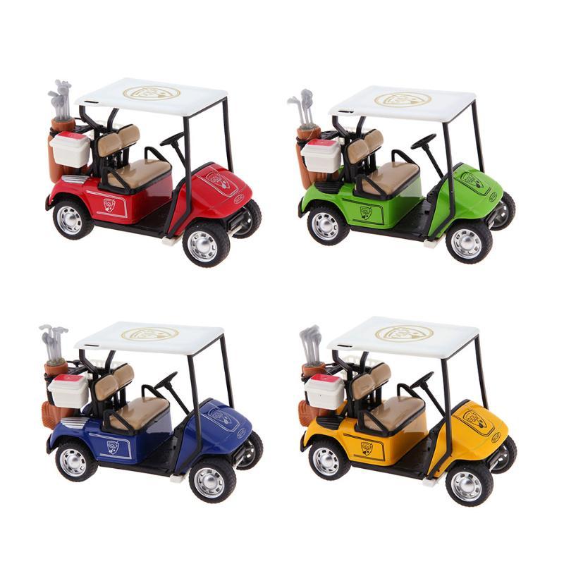 1:36 Scale Alloy Pull Back Golf Model Car High Simulation Golf Cart Model Diecast Vehicle Car Toy Children Birthday Xmas Gift