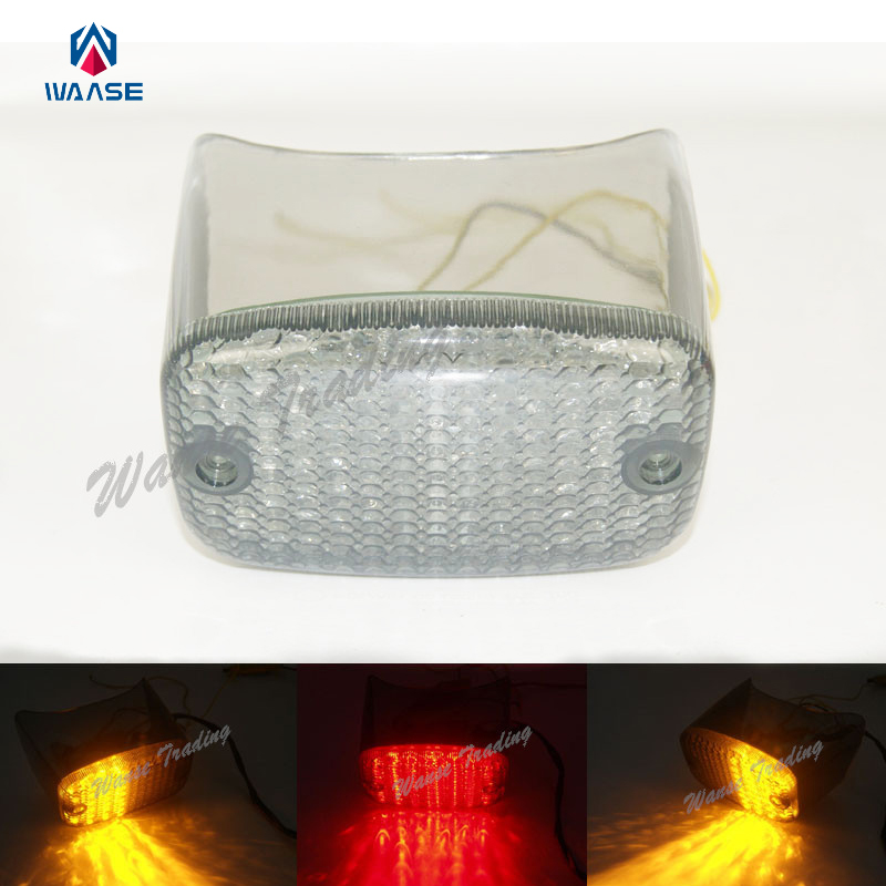 waase Rear Tail Brake Turn Signals Integrated Led Light Lamp Smoke For YAMAHA Virago XV 700 750 100 1100 XV750 XV1000 XV1100
