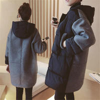 2018 NEW Fashion Plus Size Women Winter Long Parka Korean Style Pregnant Hooded Jackets Winter Coat Oversized Black Outwear X210
