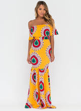 African Dresses For Women Top Fashion African Dresses 2017 Digital Print Dress Skirt Length Lz-027 Nightclub Fishtail Series