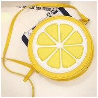 5 Cái của (mùa hè Bag Phụ Nữ Messenger Túi Chanh Shape Nhỏ Mini Túi Thông Tư Crossbody Túi Cho Cô Gái Dễ Thương túi xách (Màu Vàng))