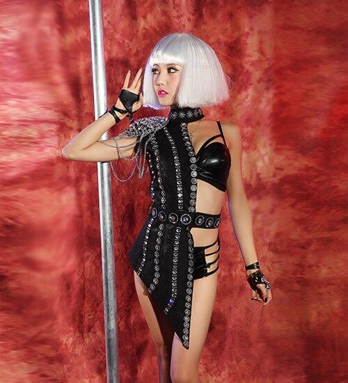 شريط النادي دي جي الإناث المغني زي مثير نصف طول الملابس الراقصات