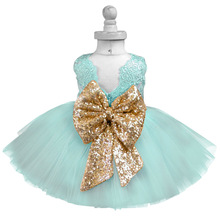 Princess Girl Wear Backless Bow Dress for 1 Year Birthday Party Toddler Costume Kids Events Gown Vestidos Infant Frocks 1-5Years