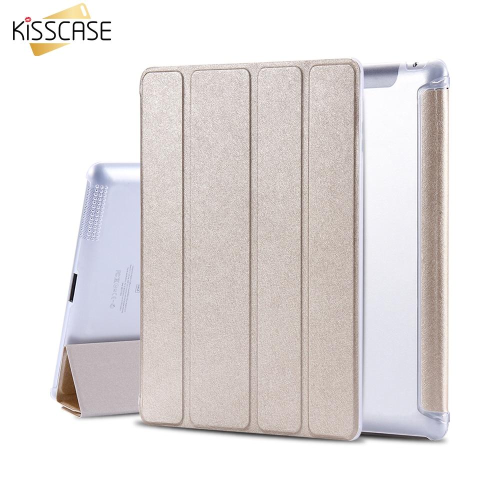 KISSCASE Smart Sleep Wake Case For iPad 2 3 4 Clear Silk Leather Flip Tablet Accessories Folded Stand Cover Bag For iPad 2 3 4 сковорода jarko forever с антипригарным покрытием со съемной ручкой диаметр 26 см