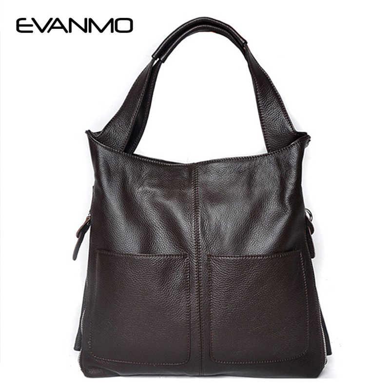 2abeed85a49a Винтажная Фирменная Новинка натуральная кожа сумка женская яловая большая  емкость сумка-тоут мешок основной Известный