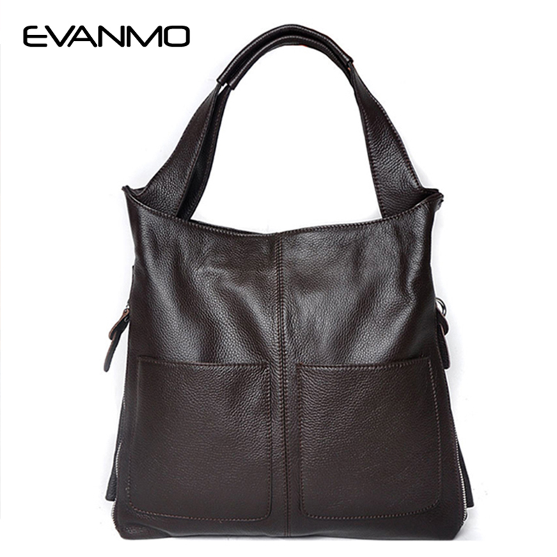 Vintage Brand New Genuine Leather Bag Ladies Cowhide Large Capacity Tote Bag Sac A Main Famous Design Lady Black Crossbody Bags