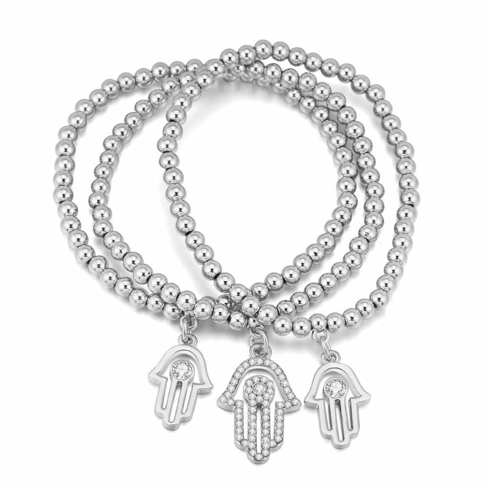 2018 nouveauté Vintage marque mauvais œil Talisman Bracelet Couple perles chaîne Bracelet à breloques femmes bijoux à bricoler soi-même livraison directe