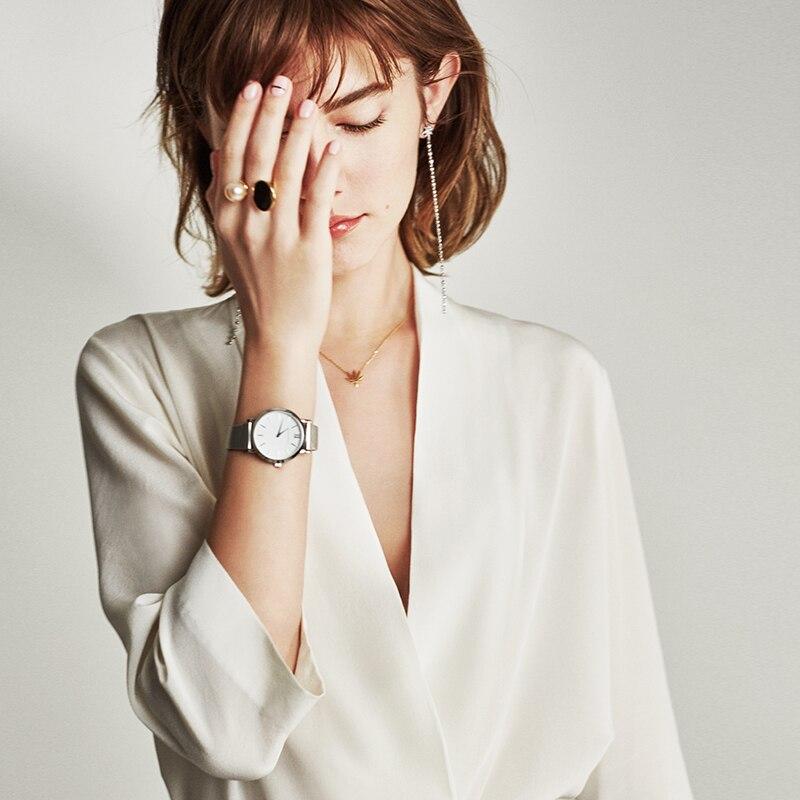 100% Silk Blouse Formal Shirt Solid Deep V Neck Three Quarter Sleeves Office Tops Elegant Style New Fashion 2018