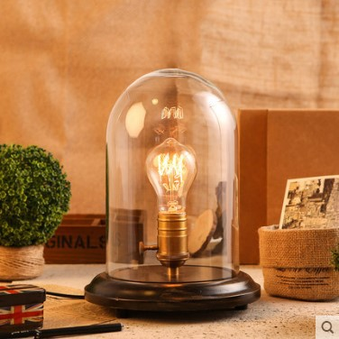 Vintage Wood Table Lamp With Glass Lampshade Vintage Edison Table Lamps For Bedroom,Luminaria Lamparas Abajur Sala De Mesa botimi wooden table lamp with fabric lampshade bedside desk lights lamparas de mesa book lamps deco luminaria reading lighting