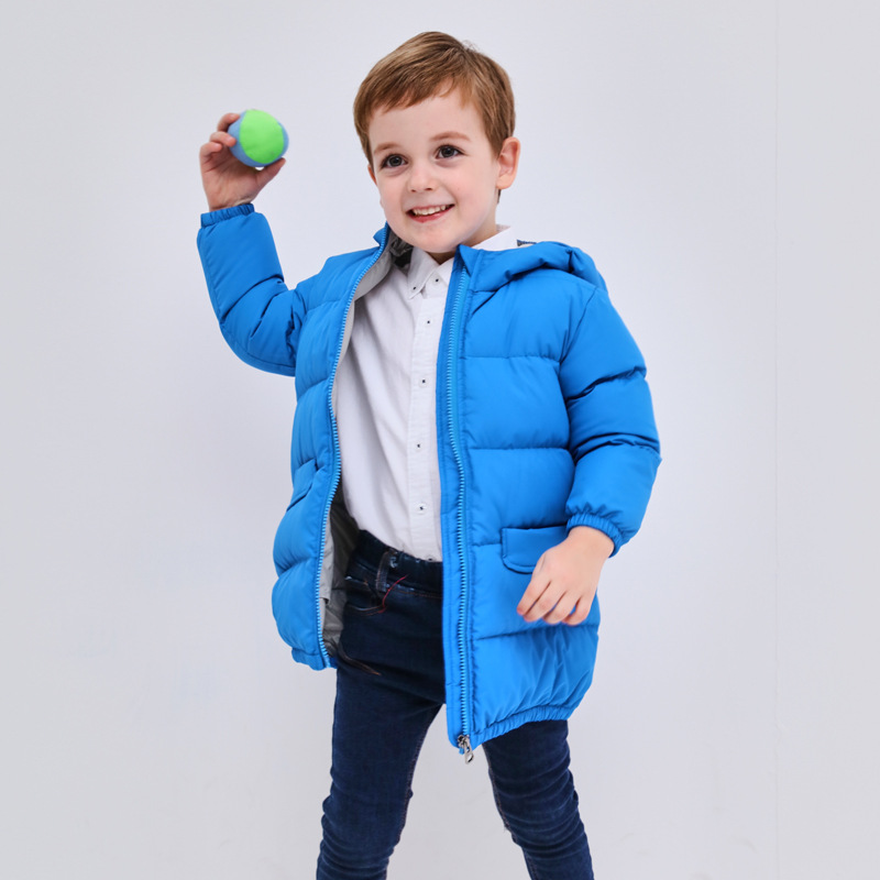 Winter Jacket Boys and Girls Winter New Baby Eiderdown Jacket Hooded Outer Thickening Winter Outerwear Down Girls Jacket Coat