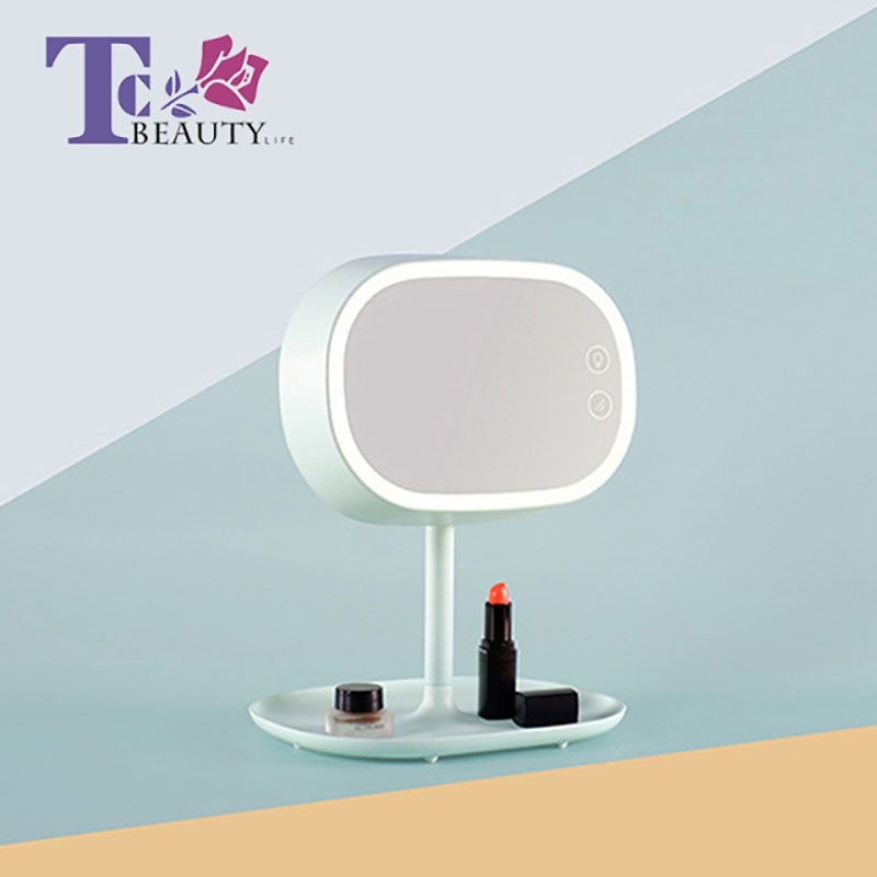 цена на Makeup Mirror Ladies Vanity Mirrors With Table Lamp Mirror Storage Three In One Touch Screen Switch Mirrors With Illumination