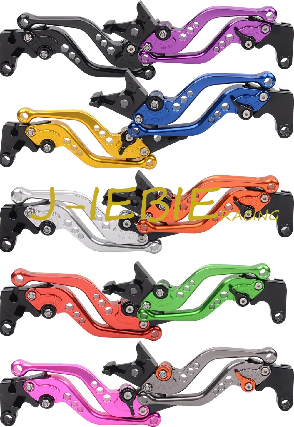 Shorty CNC Shorty Levers Brake Clutch Levers For Honda CB600F Hornet 2007-2014 CBR600F 2011-2014 motocycle accessories for honda cb600f cb900f cbf600 short brake clutch levers black