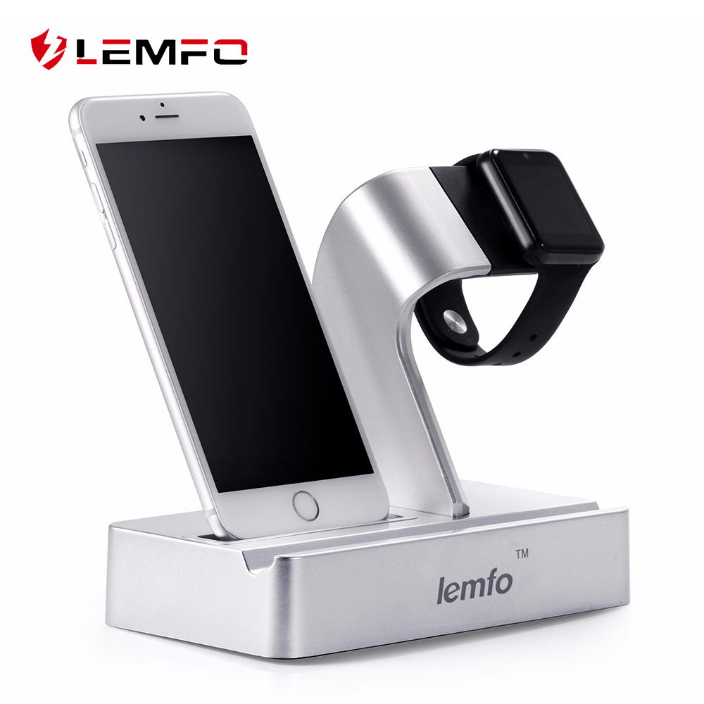 Lemfo 3 in 1 Charging Dock Station Triple Holder Stand For Apple watch for iwatch SmartWatch for iPhone Mobile Phone iPad Tablet