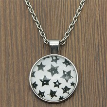 25mm Stars Glass Cabochon Necklace & Pendant Jewelry Vintage For Women Statement
