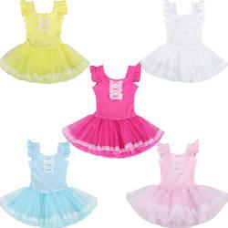 2017 Гимнастика купальник Колготки для новорождённых платье для танцев для детей От 3 до 8 лет Балетные костюмы трико для Обувь для девочек