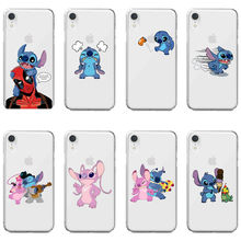 Funny cartoon animation Stitch Pikachus DC Marvel soft TPU cover phone case for iPhone Max XR XS X 6Plus 8Plus SE 5 5S 6 6S 7 8