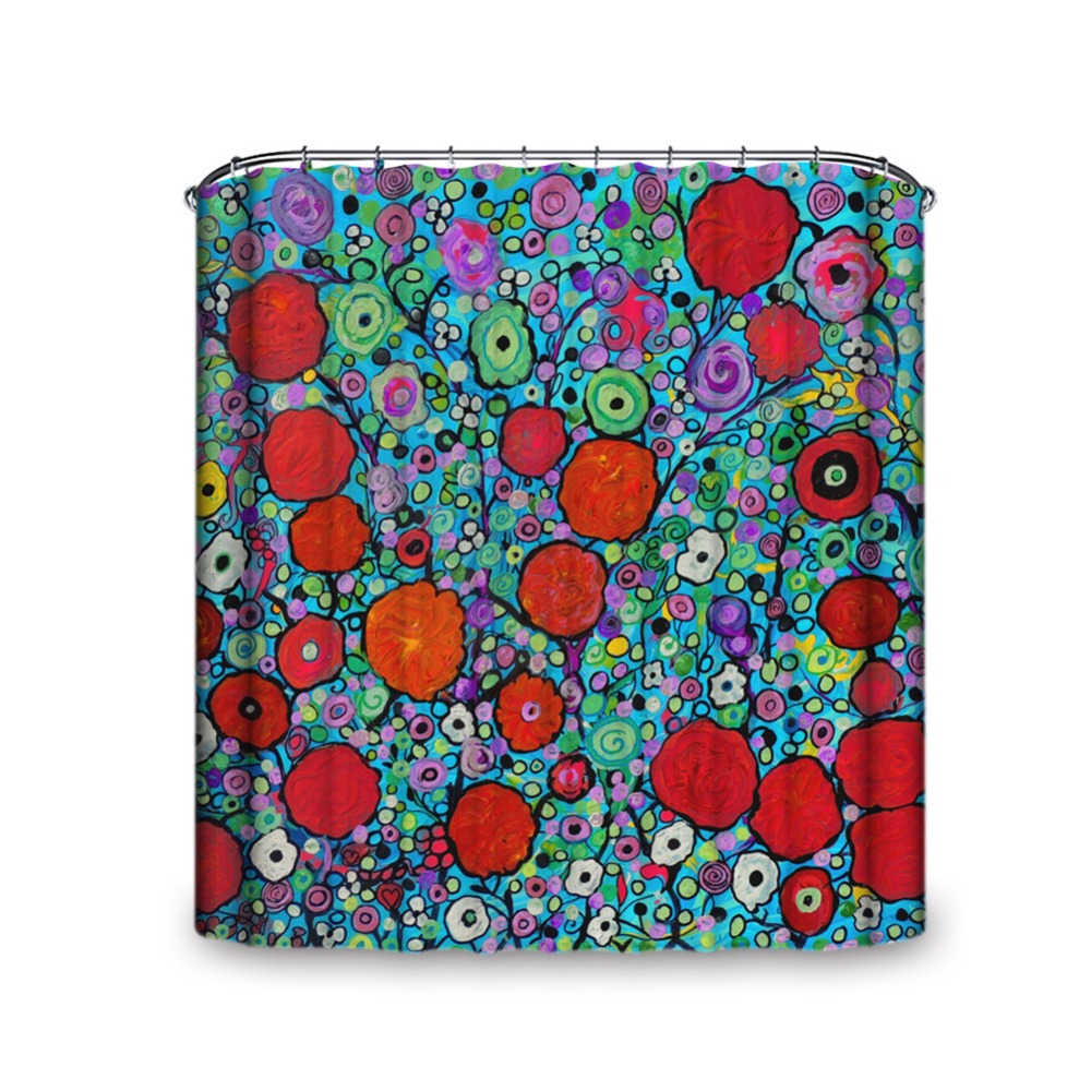red u0026 green flower blossom size and hooks shower curtain artistic modernism fashion design fantastical