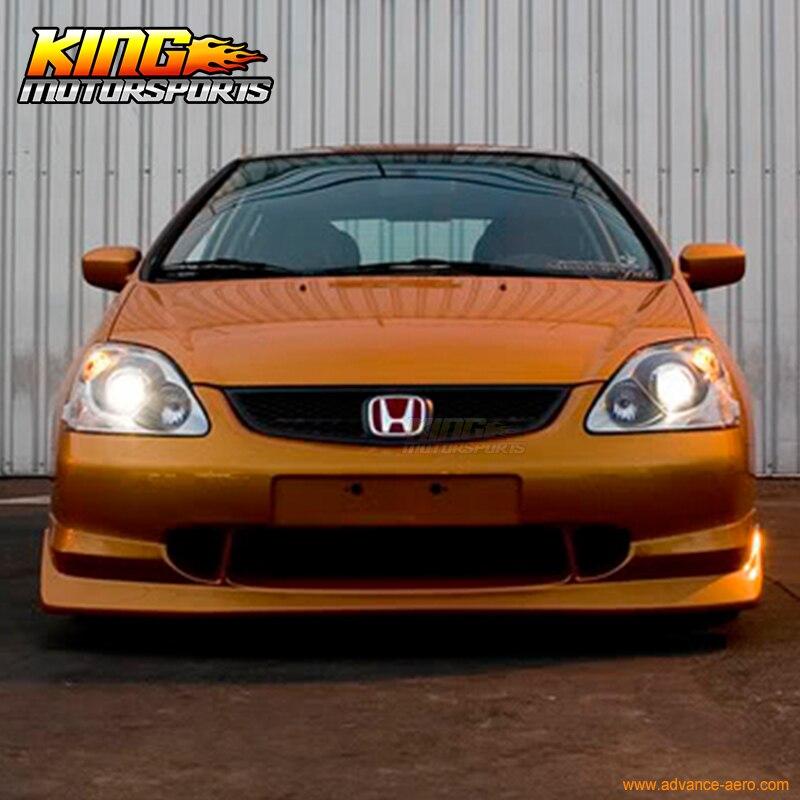 Para 2002 2003 2004 2005 Honda Civic Si Usdm 3dr Hatchback Aw Estilo Front  Bumper Lip Spoiler Em Amortecedores De Automóveis U0026 Motos No AliExpress.com  ...
