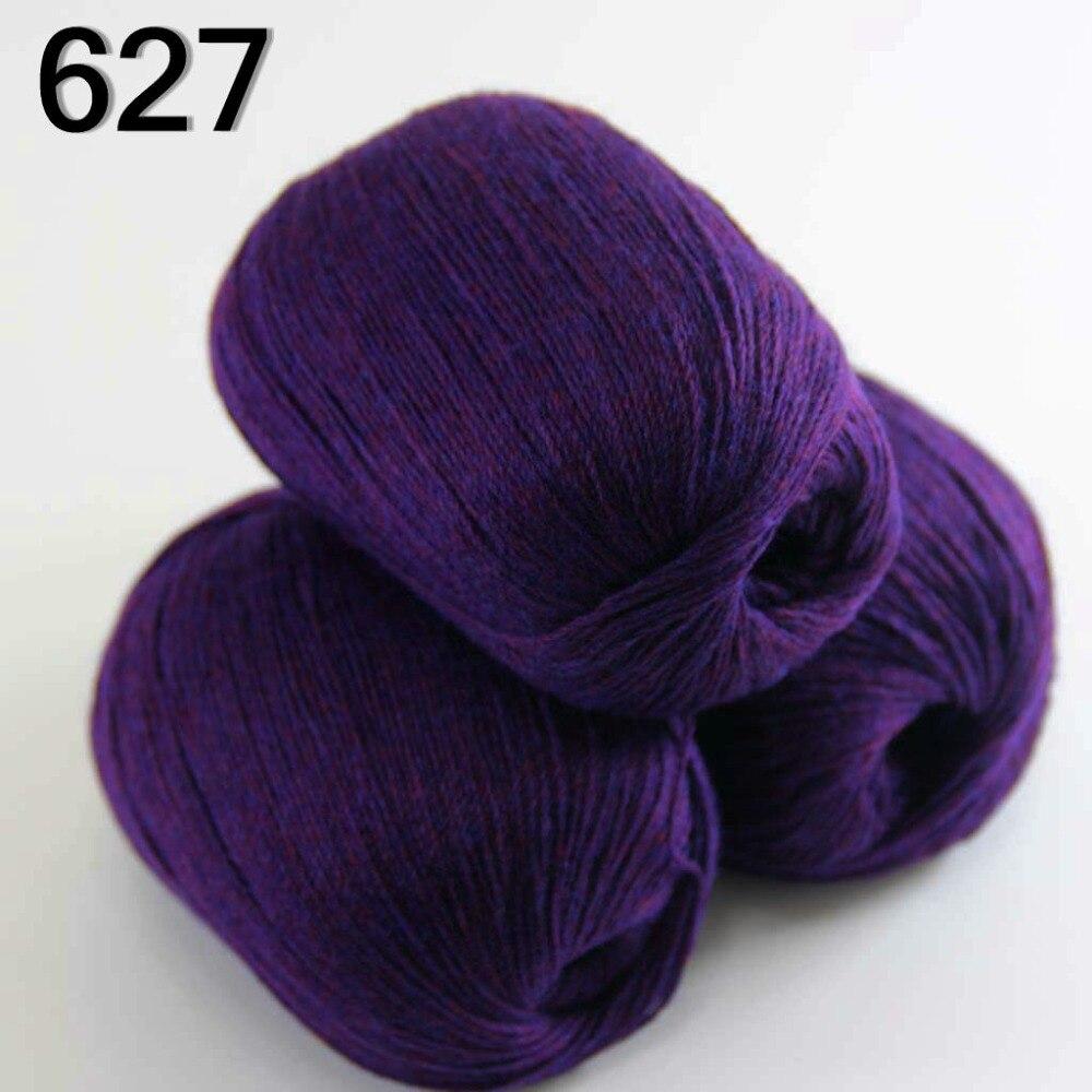 Vysoce kvalitní 100% čistá kašmírová luxusní teplá a měkká ruční pletací příze Indigo Purple 233-627