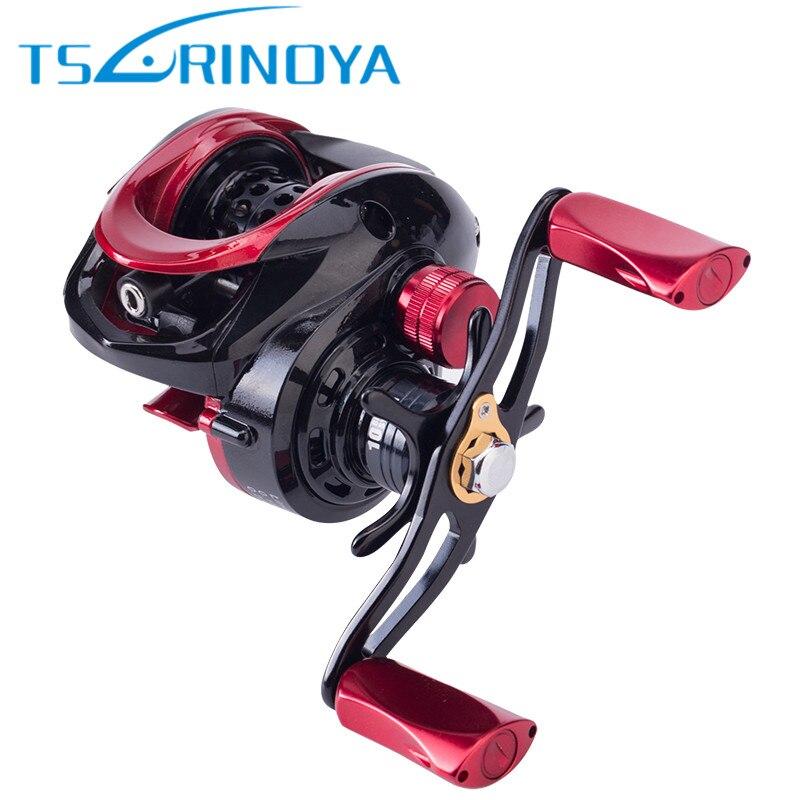 TSURINOYA XF50 Baitcasting moulinets de pêche R/L 6.6: 1 aimant frein système Ultra léger en alliage d'aluminium bobine Moulinet pêche