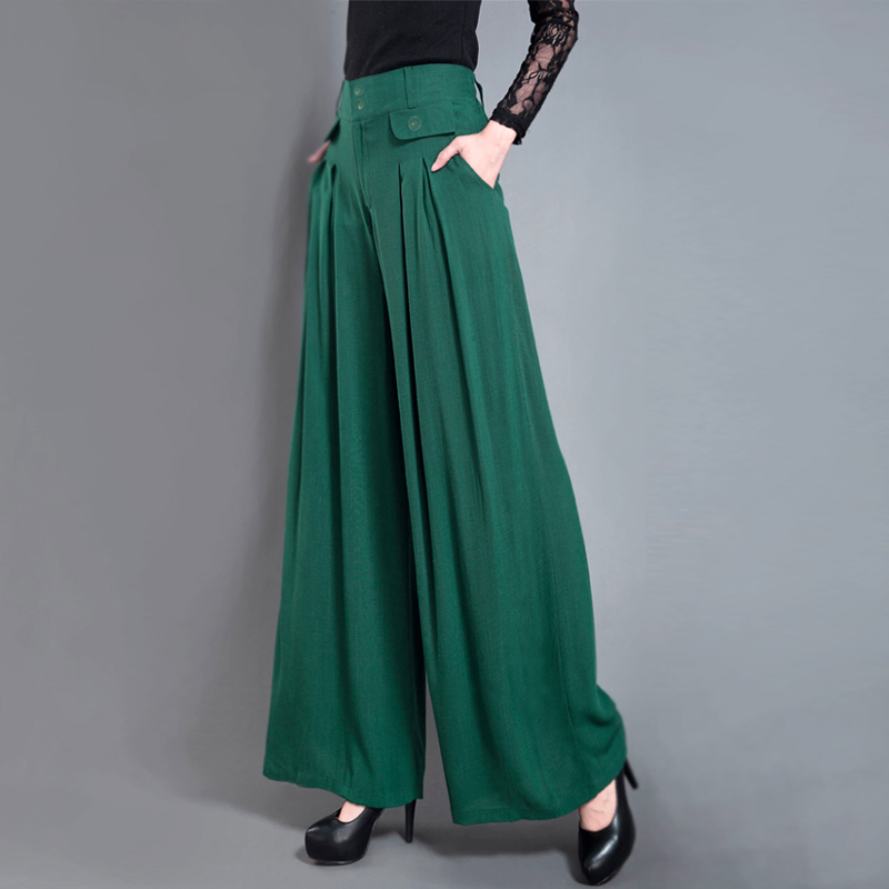 new woman casual trousers black slim   wide     leg     pants   casual   pants     wide     leg   trousers skirt   pants   elastic waist straight trousers