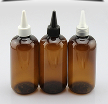 (30 قطعة/الوحدة) 250 ملليلتر زجاجة بلاستيكية فارغة لمستحضرات التجميل التعبئة ، جولة حاوية pet زجاجة مع مدببة الفم أعلى ، زجاجة السائل