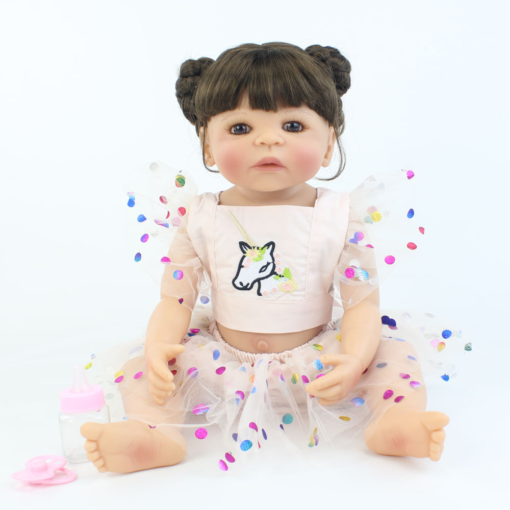 55cm Full body silicone vinyl reborn babies doll toy for girl newborn Alive baby princess doll